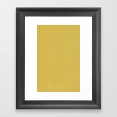 Yellow spots Framed Art Print
