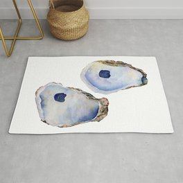 Two Oysters by Liz Kepler Rug