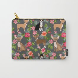 Chihuahua floral tropical hawaii floral hibiscus dog breed dogs pets Carry-All Pouch