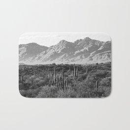 Wild West III - Tucson - Black & White version Bath Mat