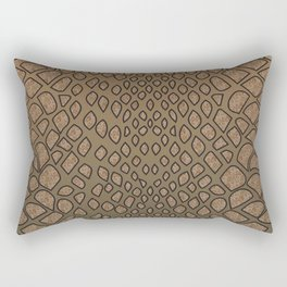 Brown Python serpents skin pattern for snake lovers  Rectangular Pillow