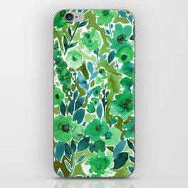 Isla Floral Green iPhone Skin