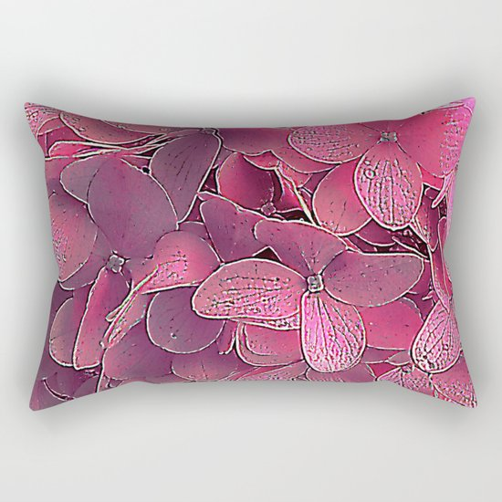 Magenta viburnum Rectangular Pillow