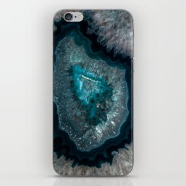Earth treasures - Blue Agate iPhone Skin