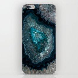 Earth treasures - Blue Agate iPhone Skin