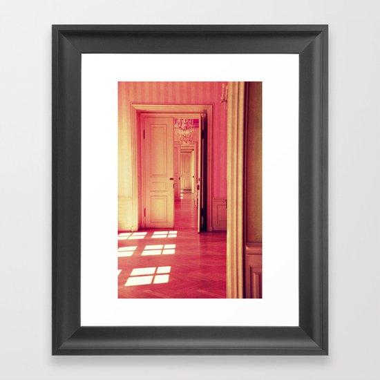 pink lightroom Framed Art Print