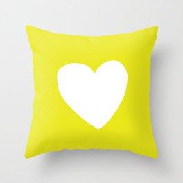Sunshine Heart Throw Pillow