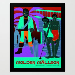 Golden Galleon Muffler Man - Ocean City NJ Art Print