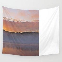 Sunrise on a Still Lake Wall Tapestry