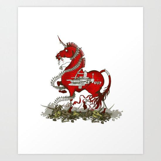 Unicorn for Boys 2.0 Art Print