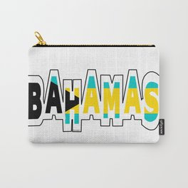 Bahamas Font with Bahamian Flag Carry-All Pouch
