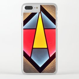 Stained Glass Light Art No.09 Geometric Design Clear iPhone Case