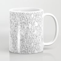 it crowd Mugs featuring Crowd by Mario Zucca