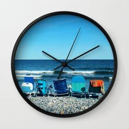 Rye Beach Wall Clock