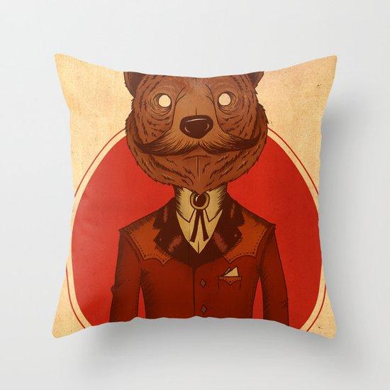 {Bosque Animal} Oso Throw Pillow