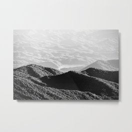 Smoky Mountain Black and White Forest Sunset - 125/365 Metal Print