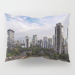 painting of Jakarta Indonesia  Pillow Sham