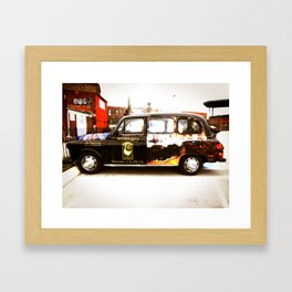 British Taxi Framed Art Print