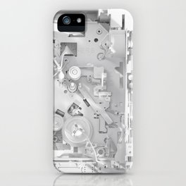 White Gears iPhone Case