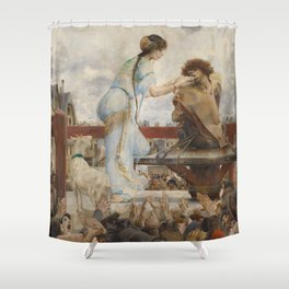 The Hunchback of Notre Dame - Luc-Olivier Merson Shower Curtain