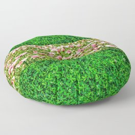 spring meadow blossoms Floor Pillow