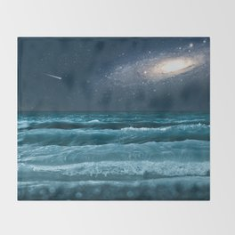 The Milky Way Express Throw Blanket