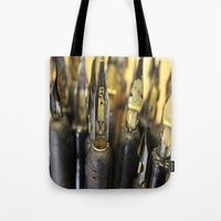 write Tote Bags featuring Write right by Lisa Beynon