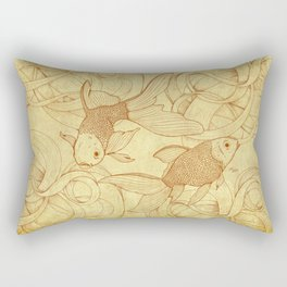 Vintage Goldfishes II Rectangular Pillow