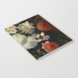 "Philip van Kouwenbergh ""Still life of flowers with roses, peonies, hollyhock, tulips, grapes..."" Notebook"