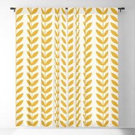 Scandinavian Mid Century Pattern Yellow Blackout Curtain