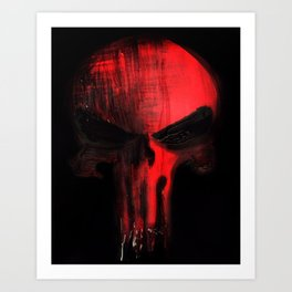 Punisher's Crimson Art Print