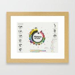 History of Life Framed Art Print