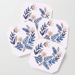 Blue Wreath Coaster
