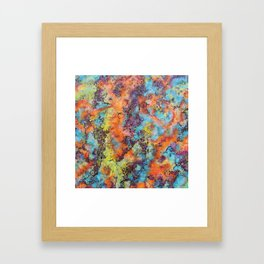 Playing colors Framed Art Print