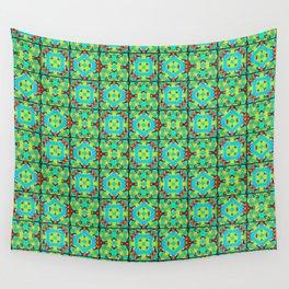 Kaleidoscope Quilt 2 - Green Wall Tapestry