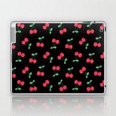 Cherries on Black Laptop & iPad Skin