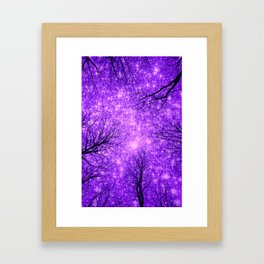 Black Trees Purple Space Framed Art Print
