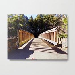 North Conway Bridge Metal Print