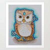 LADY OWL Art Print