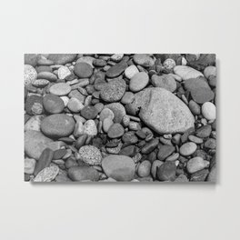 Beach Rocks 1 Metal Print