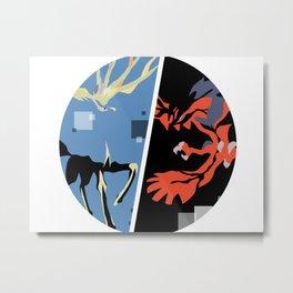 Xerneas and Yveltal special edit (circle) Metal Print