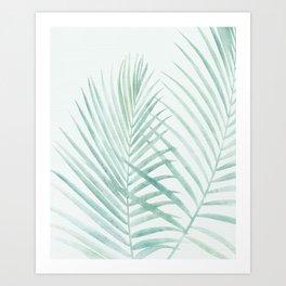 Cool Minty Tropics Art Print