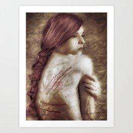 A young woman Art Print