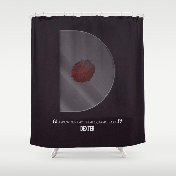 Dexter Tv Alphabet Shower Curtain