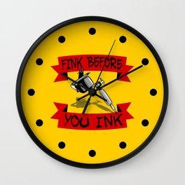 Tattoo Regret Wall Clock