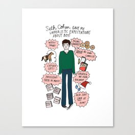 Seth Cohen, Perfection Canvas Print