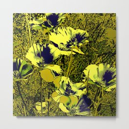 Amazing glowing Flowers 2C Metal Print