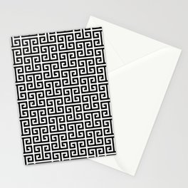 Black and White Greek Key Pattern Stationery Cards
