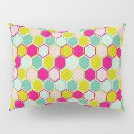 Multicolored Hexagon Shapes Pattern Pillow Sham