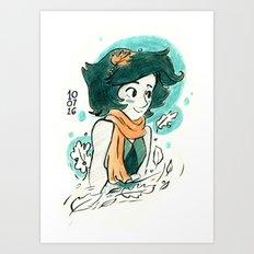 Lapis in the fall Art Print